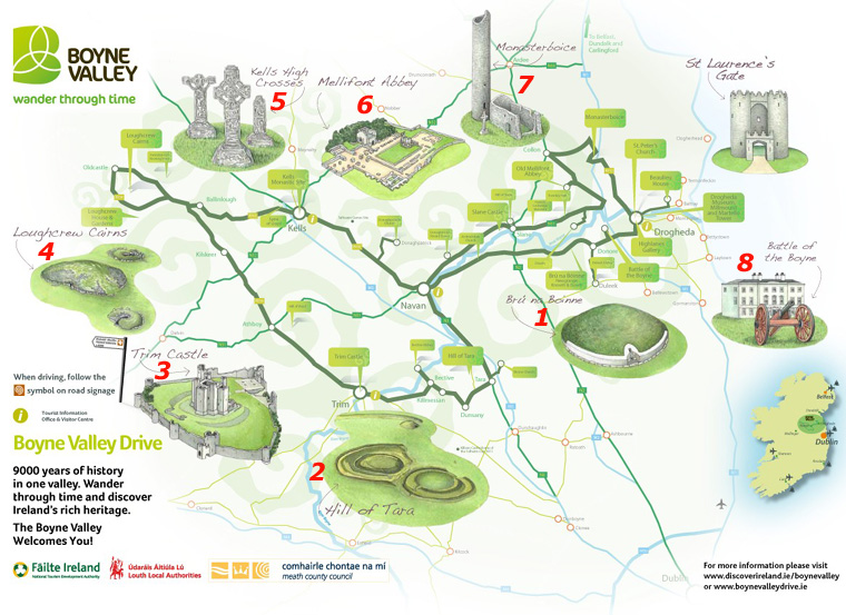 Boyne Valley Map